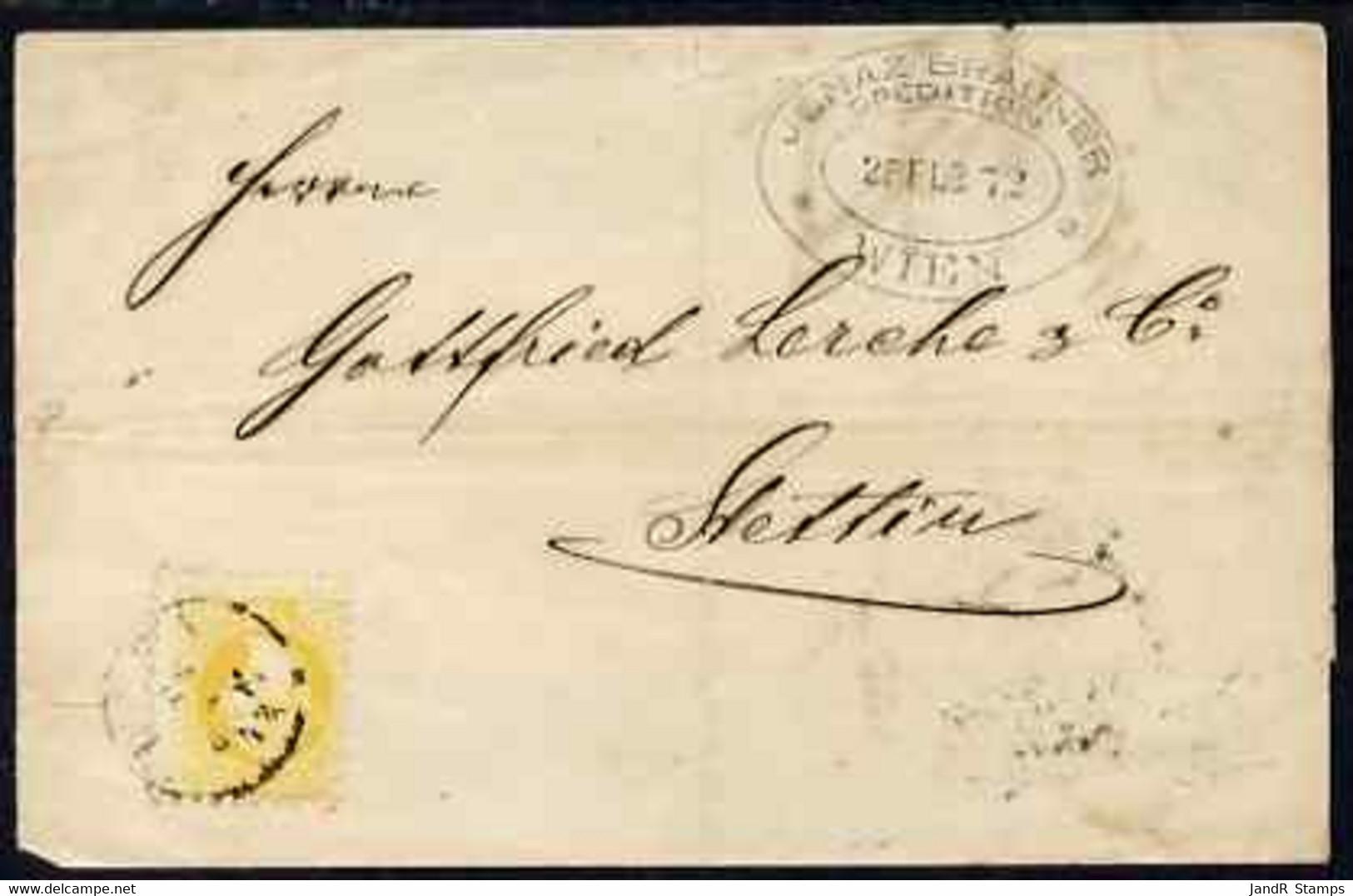 Austria 1876 Wrapper Vienna To Stellin Bearing 2kr Yellow B/stamped AUSG. - Sin Clasificación