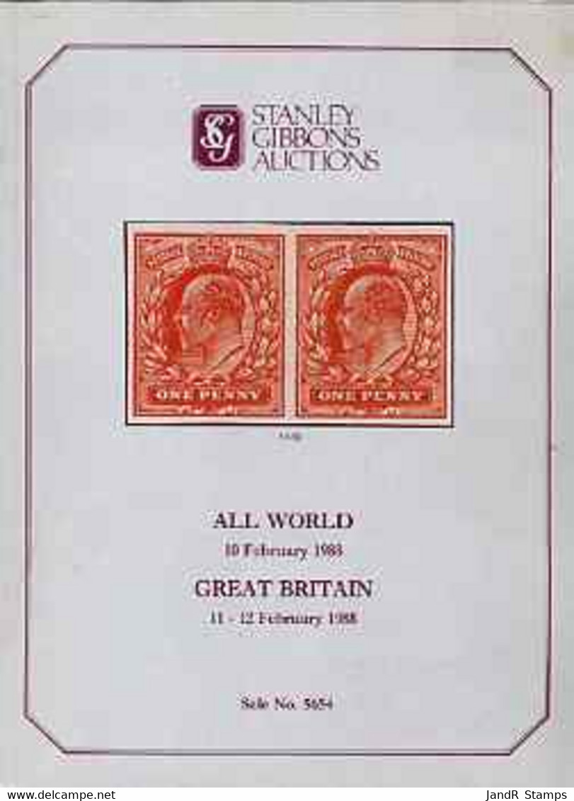 Auction Catalogue - Great Britain - Stanley Gibbons 10-12 Feb 1988 - Plus All World Sale - Cat Only - Other
