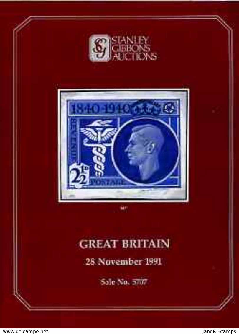Auction Catalogue - Great Britain - Stanley Gibbons 28 Nov 1991 - Incl KG6 & QEII Varieties - With Prices Realised - Other