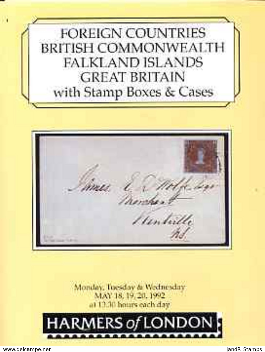 Auction Catalogue - Falkland Islands - Harmers 18-20 May 1992 - Incl The Raymond Blackler Coll - Other