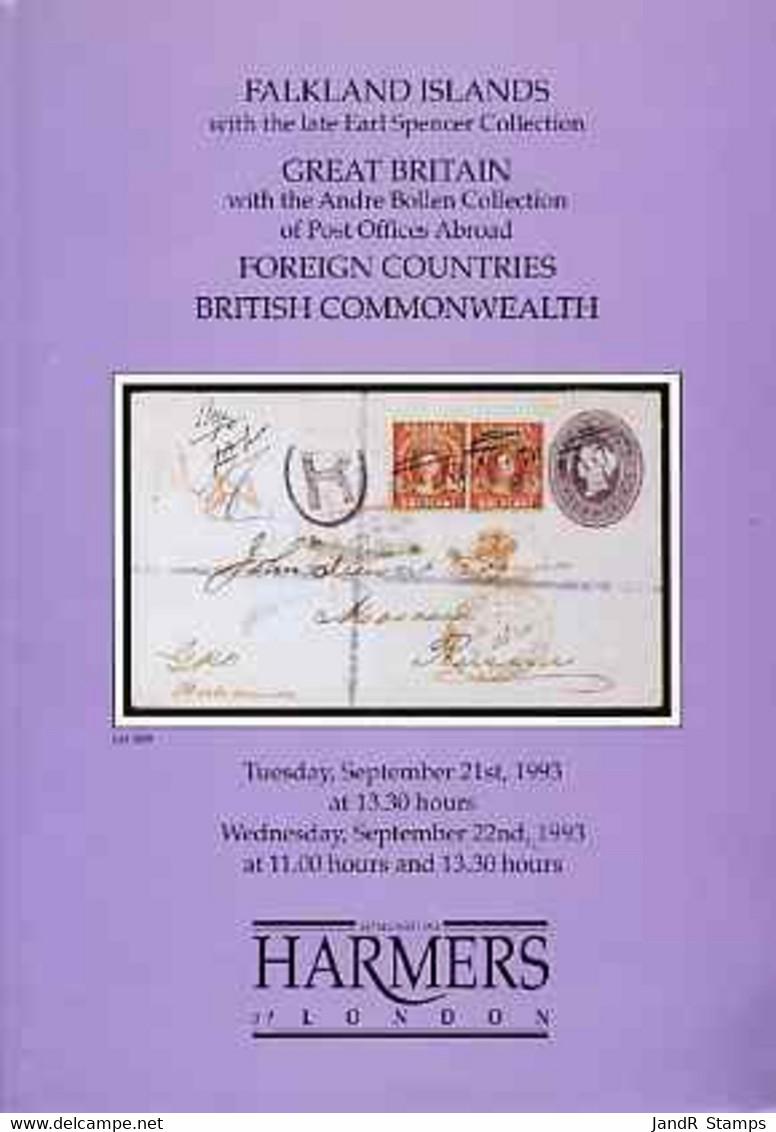 Auction Catalogue - Great Britain & Falkland Islands - Harmers 21-22 Sept 1993 Earl Spencer (Falklands) Bollen - Other