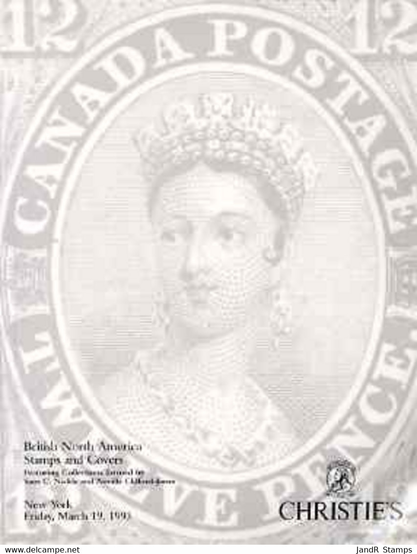 Auction Catalogue - British North America - Christie's 19 Mar 1993 - Incl The Sam C Nickle, Neville Clifford-Jones - Other