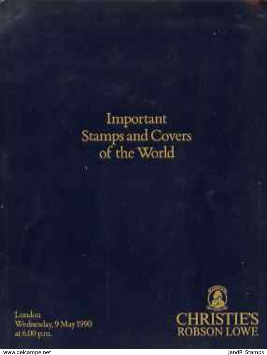 Auction Catalogue - Important Stamps & Covers - Christie's Robson Lowe 5 May 1993 - Cat Only - Other