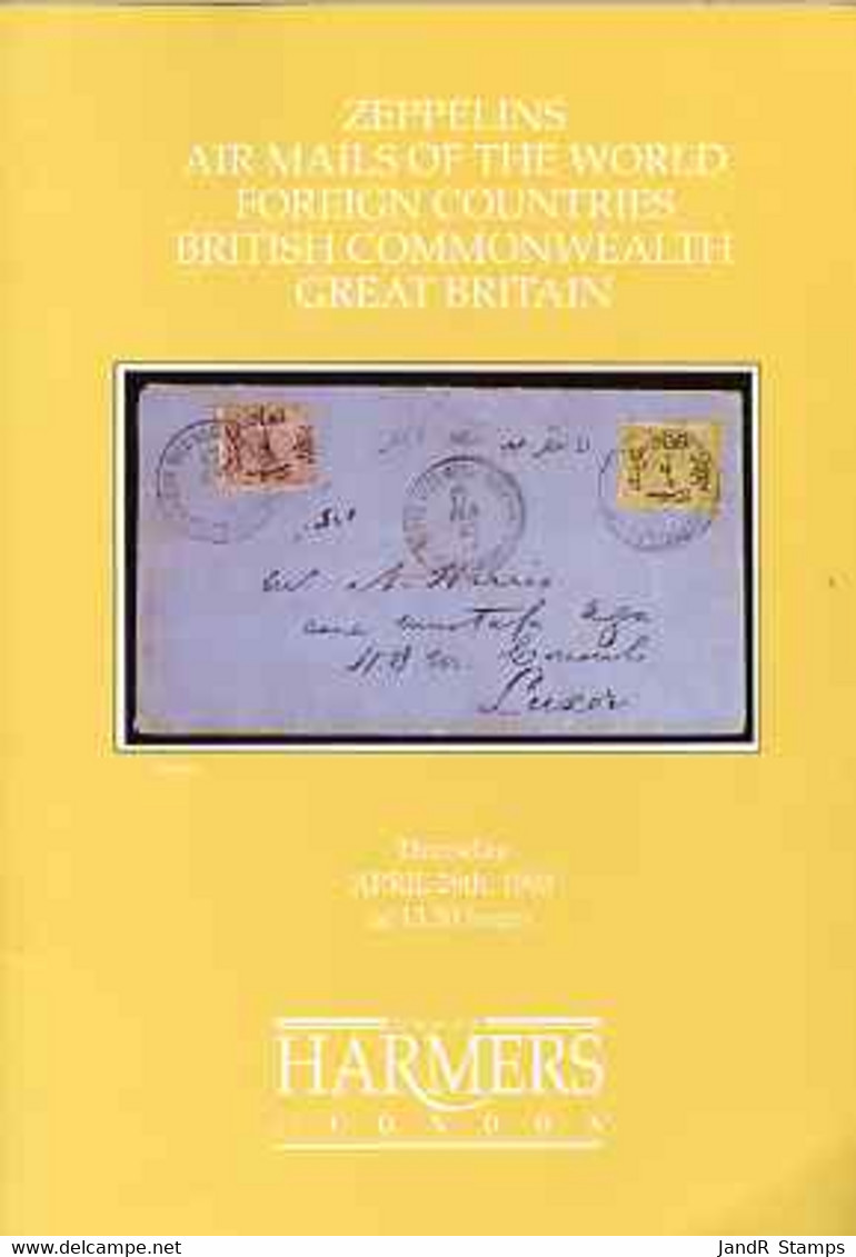Auction Catalogue - Zeppelins & Airmails - Harmers 29 Apr 1993 - With Prices Realised - Other
