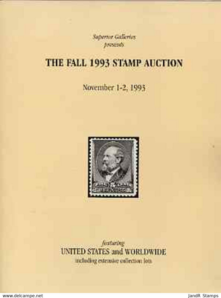 Auction Catalogue - United States - Superior 1-2 Nov 1993 - Worldwide - Cat Only - Other