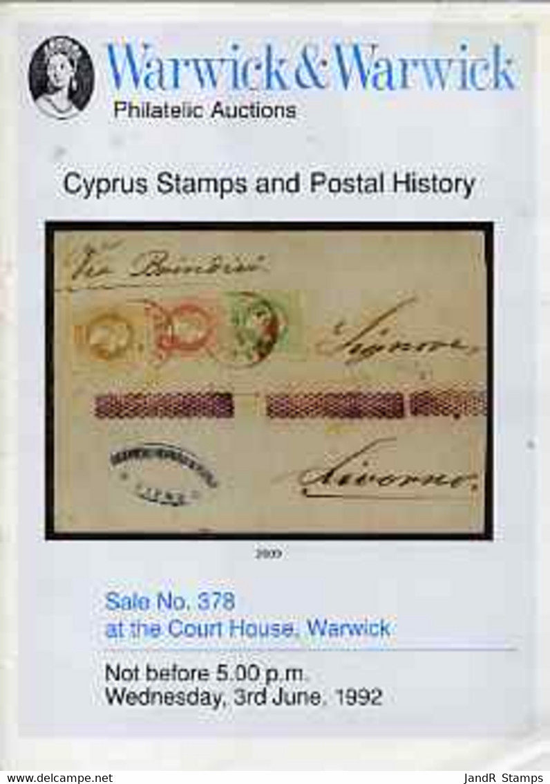 Auction Catalogue - Cyprus - Warwick & Warwick 3 June 1992 - With Prices Realised - Other