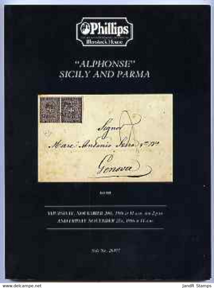 Auction Catalogue - Sicily & Parma - Phillips 20-21 Nov 1986 - The 'Alphonse' Collection - Cat Only - Other