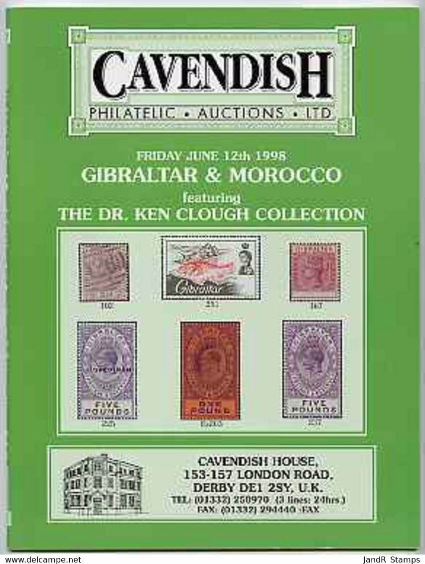 Auction Catalogue - Gibraltar & Morocco - Cavendish 12 June 1998 - The Dr Ken Clough Collection - Cat Only - Sonstige