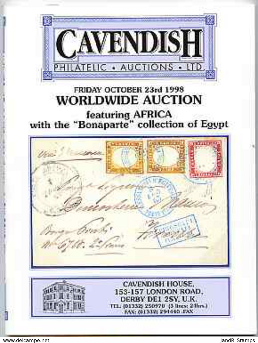 Auction Catalogue - Egypt - Cavendish 23 October 1998 - The 'Bonaparte' Collection - Cat Only - Other
