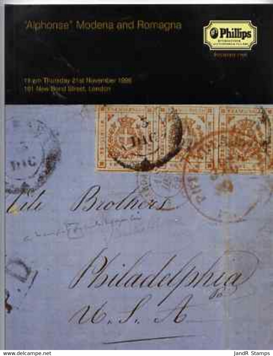 Auction Catalogue - Modena & Romagna - Phillips 21 Nov 1996 - The Alphonse Collection - Cat Only - Other