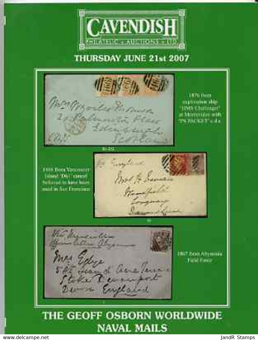 Auction Catalogue - Naval Mails - Cavendish 21 June 2007 - The Geoff Osborn Collection - Cat Only - Other