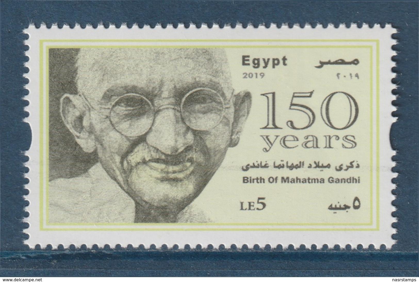 Egypt - 2019 - ( 150th Annie., Birth Of Mahatma Gandhi ) - MNH** - Nuovi