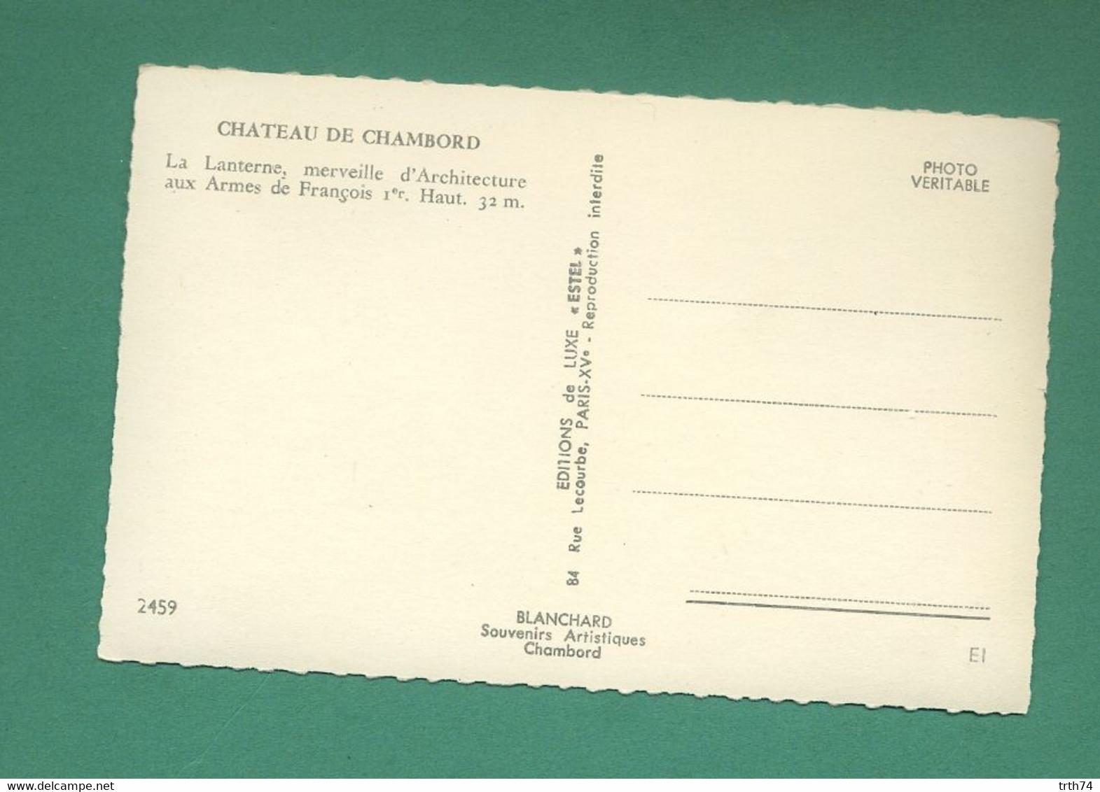 41 Chambord La Lanterne ( Coquillage, Schell ) CPSM 9 X 14 Cm - Chambord