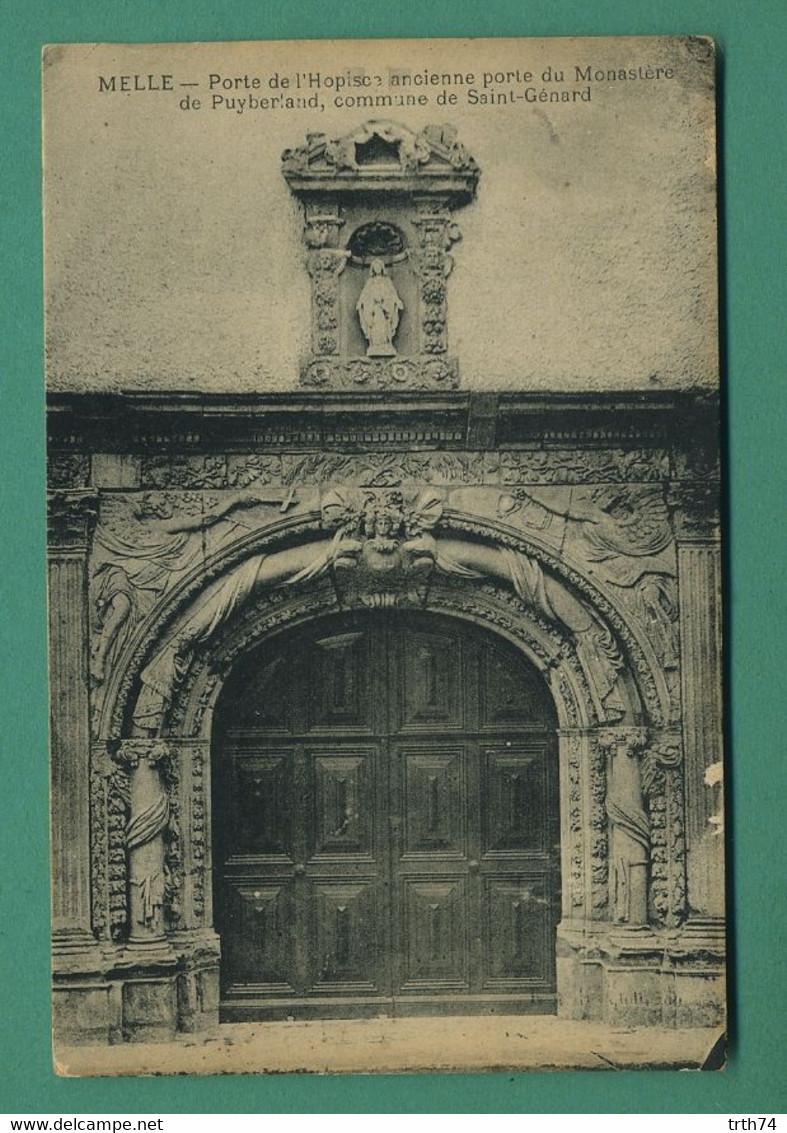 79 Melle Porte De L' Hospice Commune De Saint Génard ( Motif Coquille, Schell ) - Melle