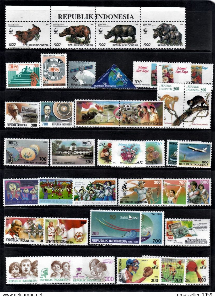 Indonesia-10!!! Years (1996-2005y.y.) Sets .Almost 200 Issues.MNH - Indonesia