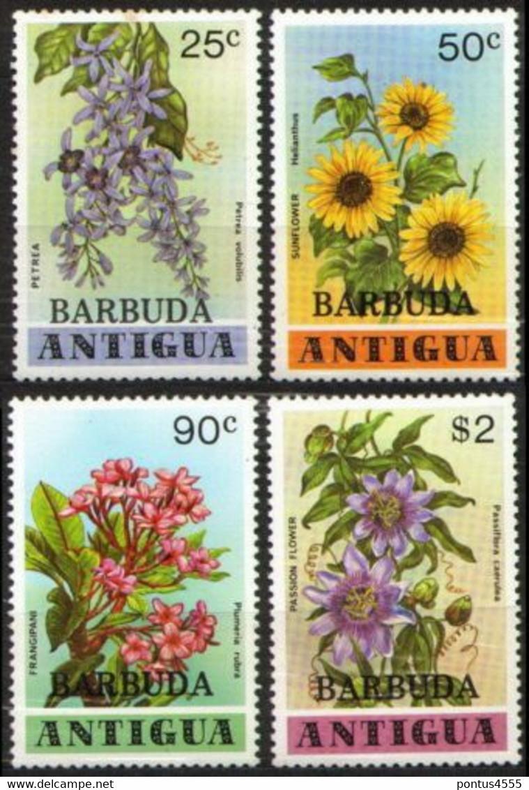 Barbuda 1978 Mi 416-419, Sheet 37 Flowers - MNH - America (Other)