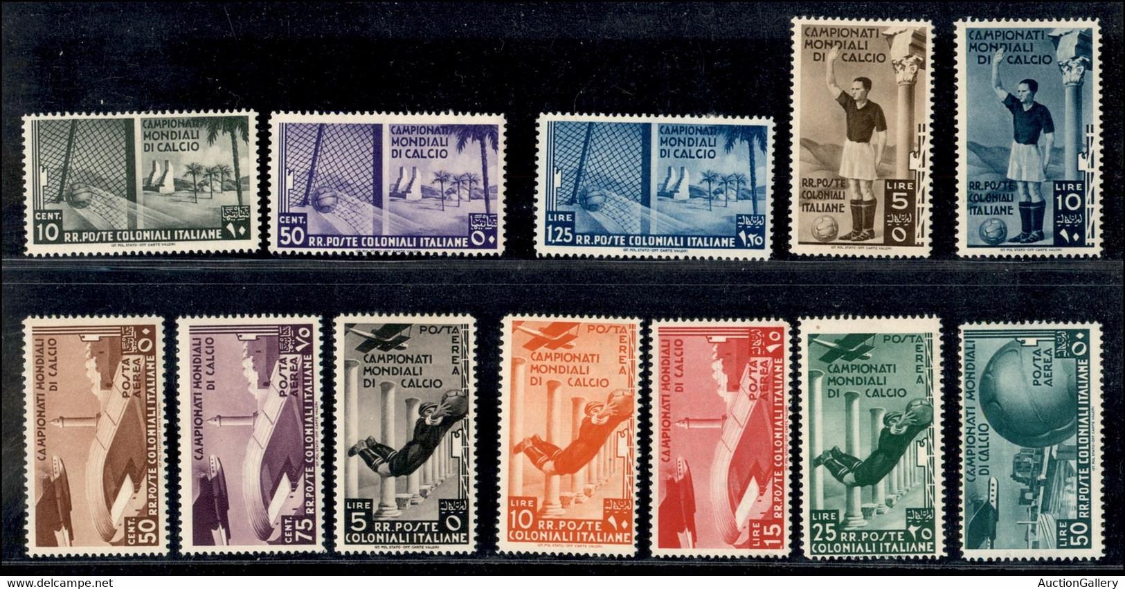 COLONIE - EMISSIONI GENERALI - 1934 - Calcio (46/50 + Aerea 31/37) - Emissione Completa - 12 Valori - Gomma Originale (9 - Non Classificati