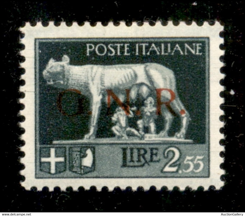 RSI - GNR VERONA - 1944 - 2,55 Lire (483l) Con Decalco - Gomma Integra - Unclassified