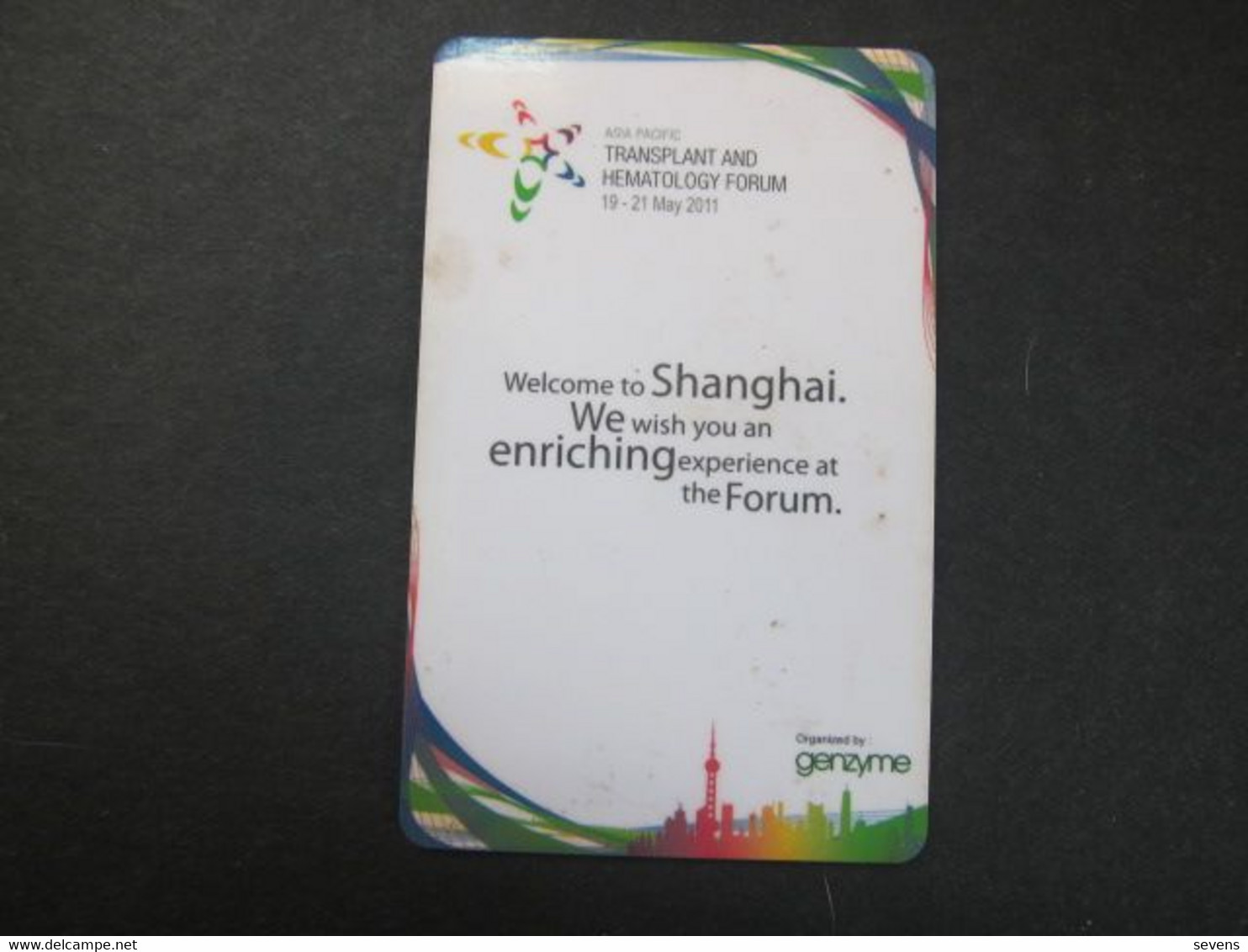 Asia Pacific Transplant And Hematology Forum Magnetic Card - Unclassified