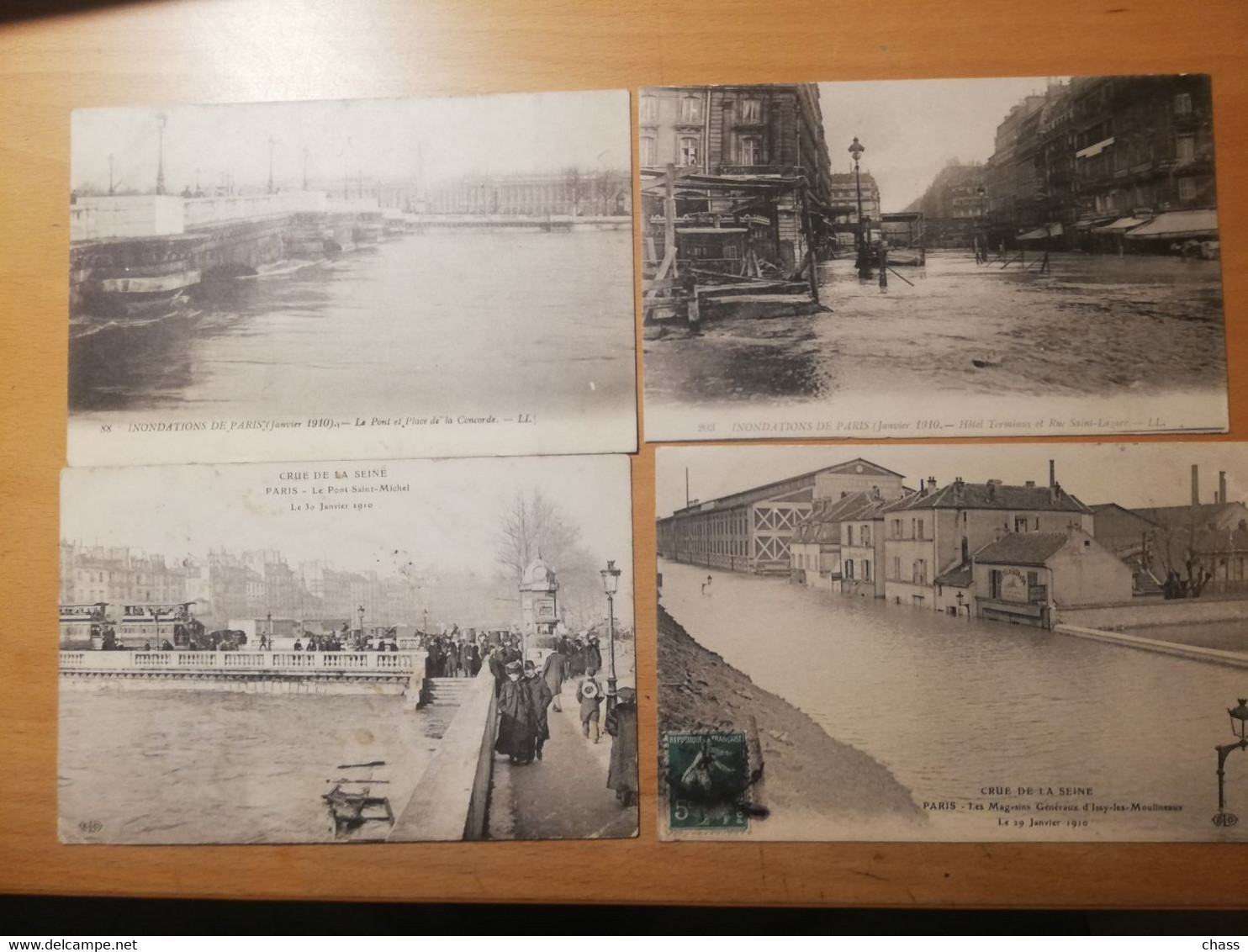 Lot De 32 Cpa Crue De La Seine En 1910 Paris Et Région - 5 - 99 Postkaarten