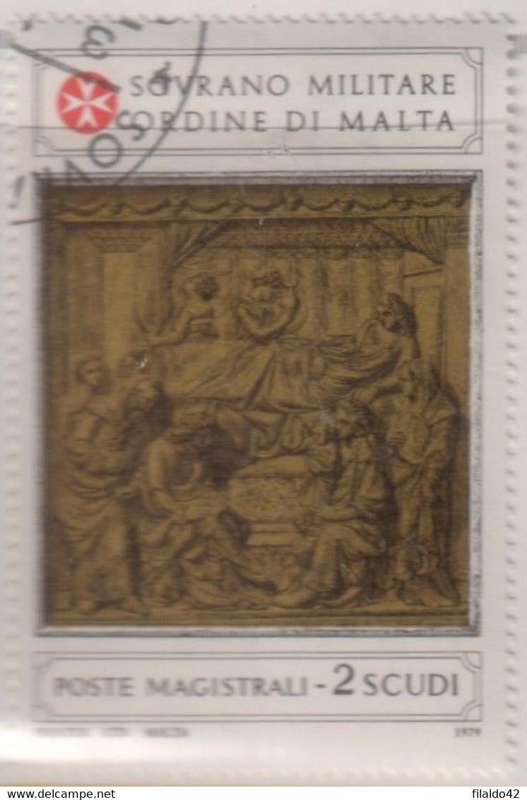"""SMOM - 1979 - USATO - """"Formelle Nel Battistero Del Duomo Di Siena"""" S. Cpl 2v (rif. 161/62 Cat. Unificato) - Malte (Ordre De)"""