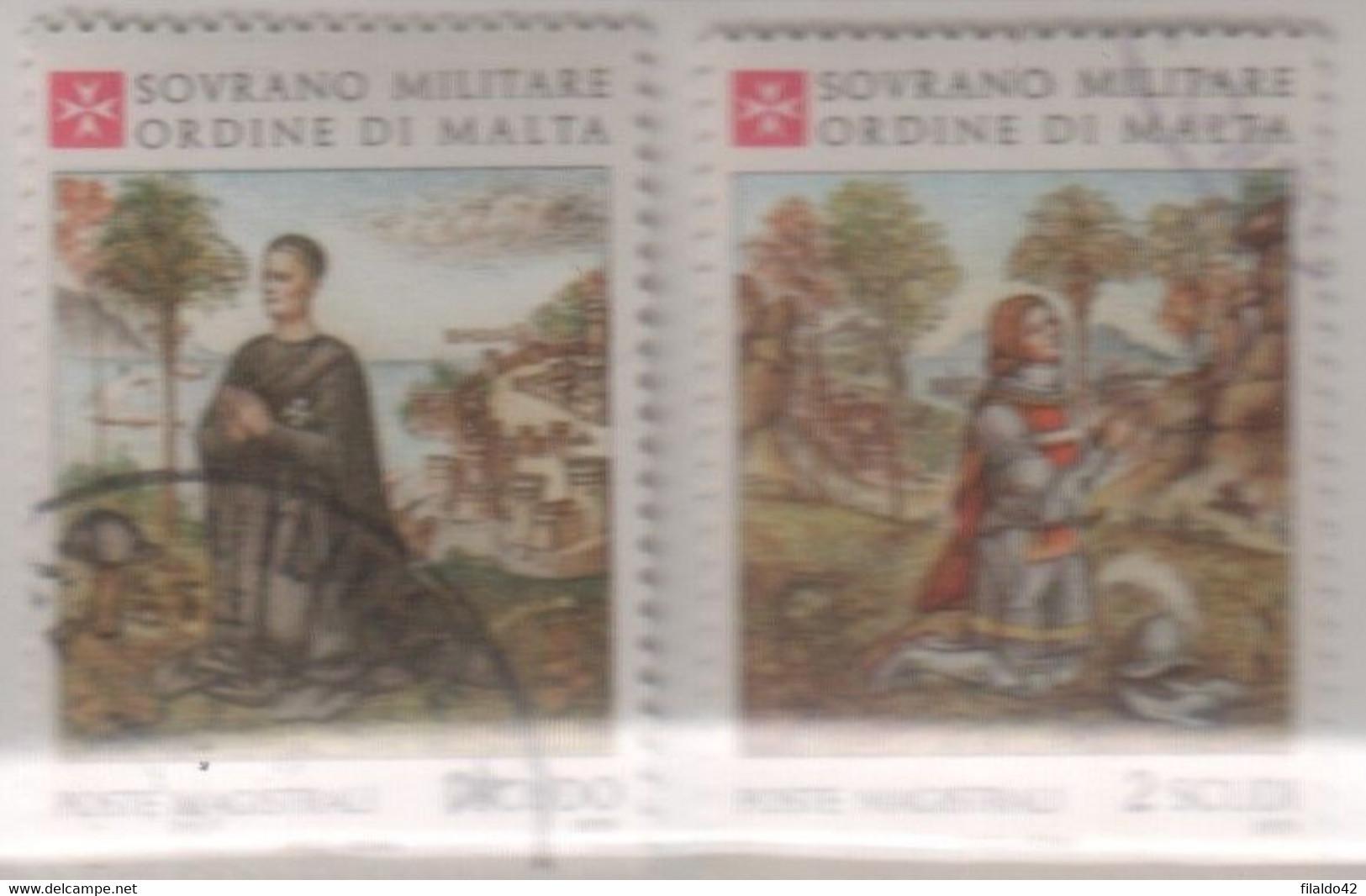 """SMOM - 1979 - Usato - """"Natale"""" S. Cpl 2v (rif. 168/69 Cat. Unificato) - Malta (la Orden De)"""