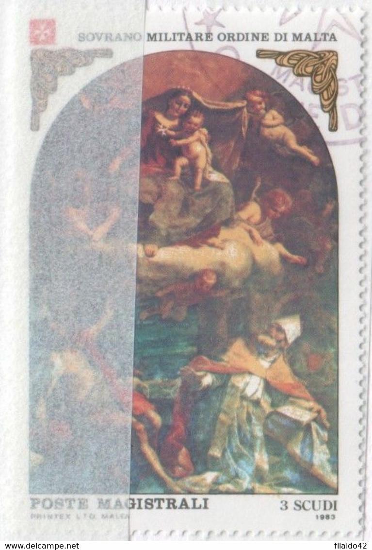 """SMOM - 1983 - Usato - """"Natale"""" S. Cpl 2v (rif. 222/23 Cat. Unificato) - Malte (Ordre De)"""