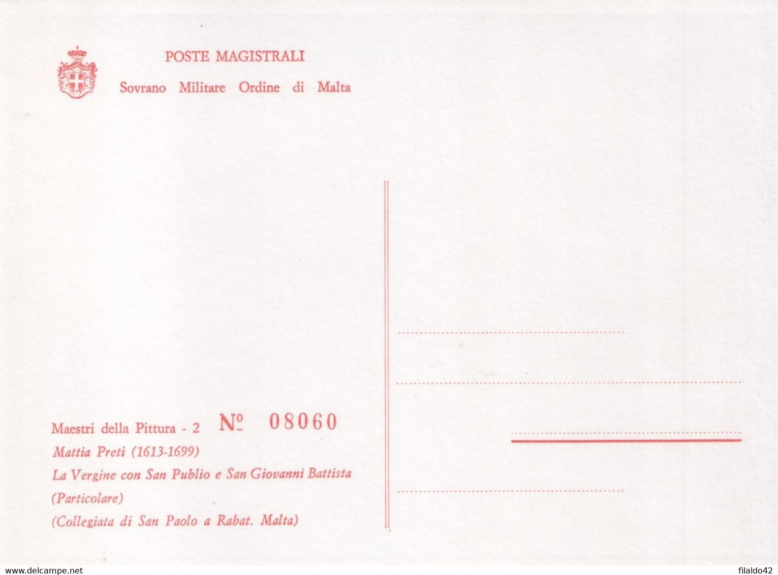 """SMOM - 1983 - Carte Postali - """"Natale"""" (Riproduzione Su 1 Cart. Dei Dipinto Del N°222"""" Cat. Unificato) MNH** - Malte (Ordre De)"""
