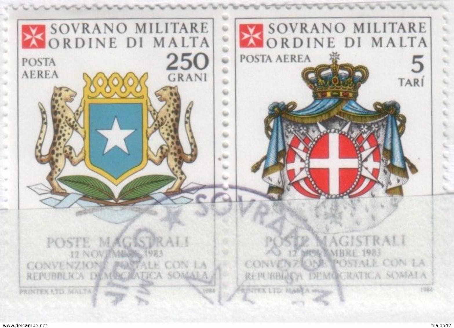 SMOM - 1984 Usato - AEREA Convenzione Postale Con La Somalia S. Cpl 2v Uniti (rif. A5/A6 Cat. Unificato) - Malte (Ordre De)
