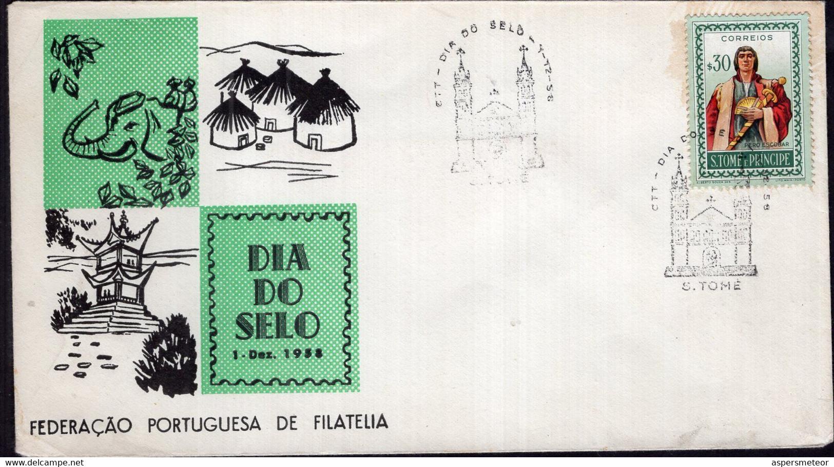 St. Tome E Principe - 1958 - FDC - Dia Do Selo - A1RR2 - America (Other)