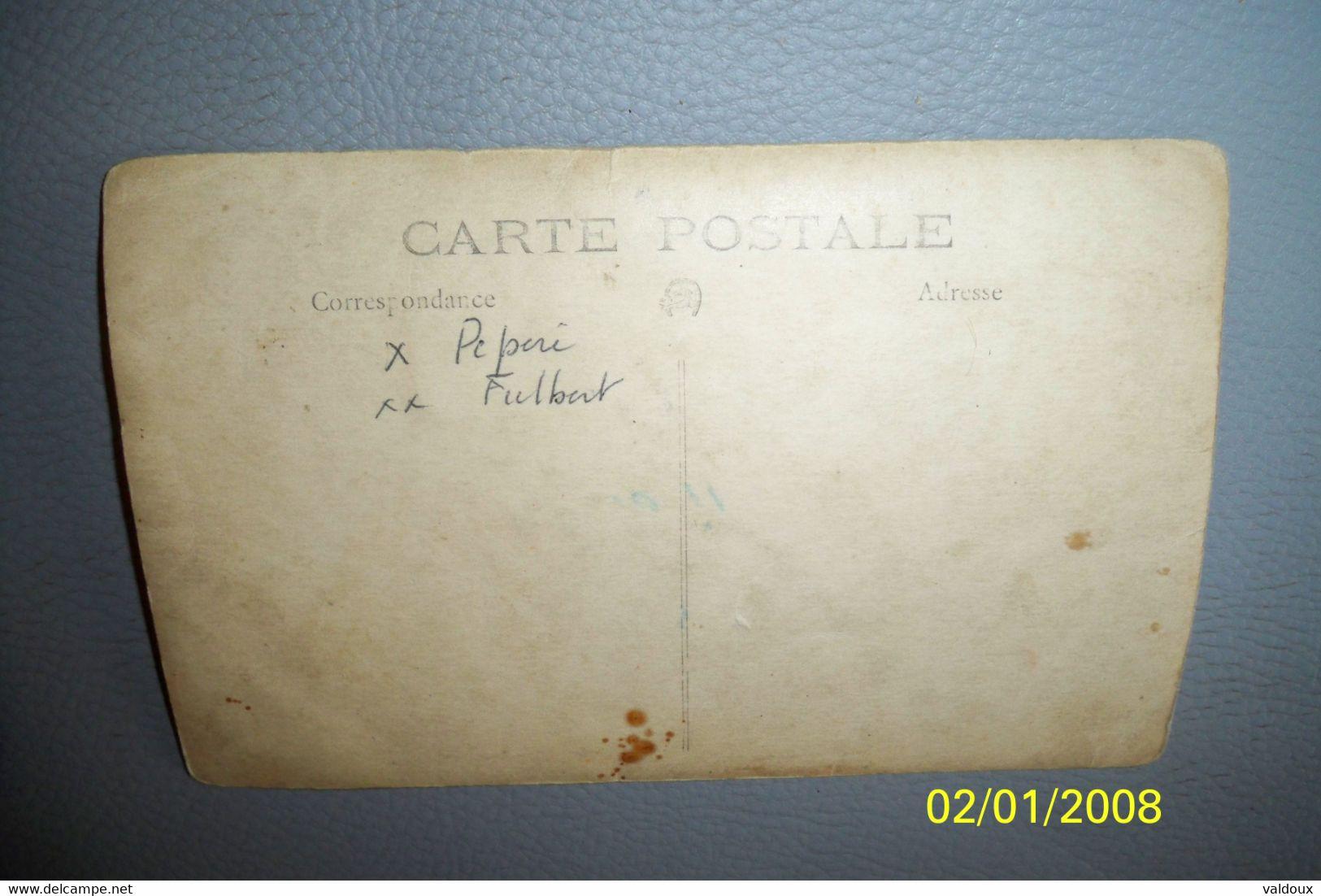 Carte Photo Entreprise Maçonnerie Auguste Rauzet ( Graissessac ? ) - Other