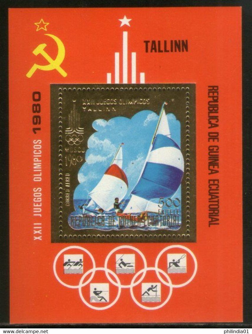 Equatorial Guinea 1978 Moscow Olympic Games Gold Foil M/s MNH # 5644 - Other