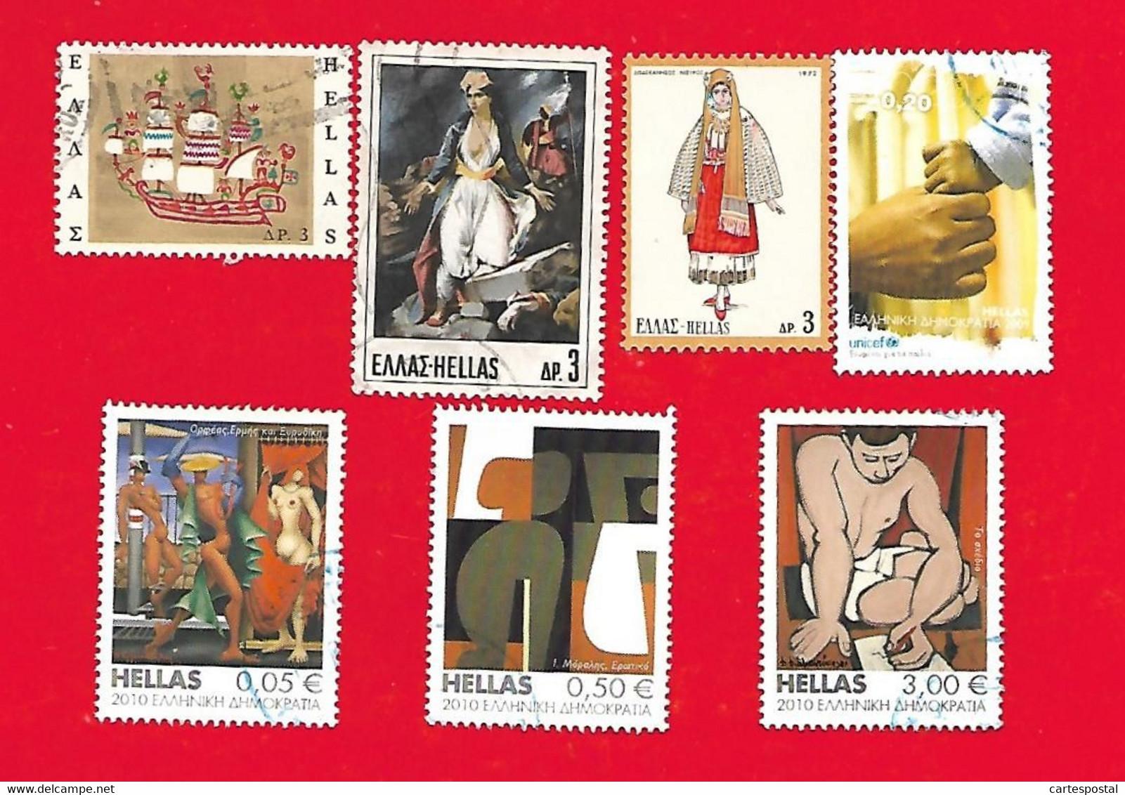 5405 --  GRECE - Lot  De  Timbres - Collections