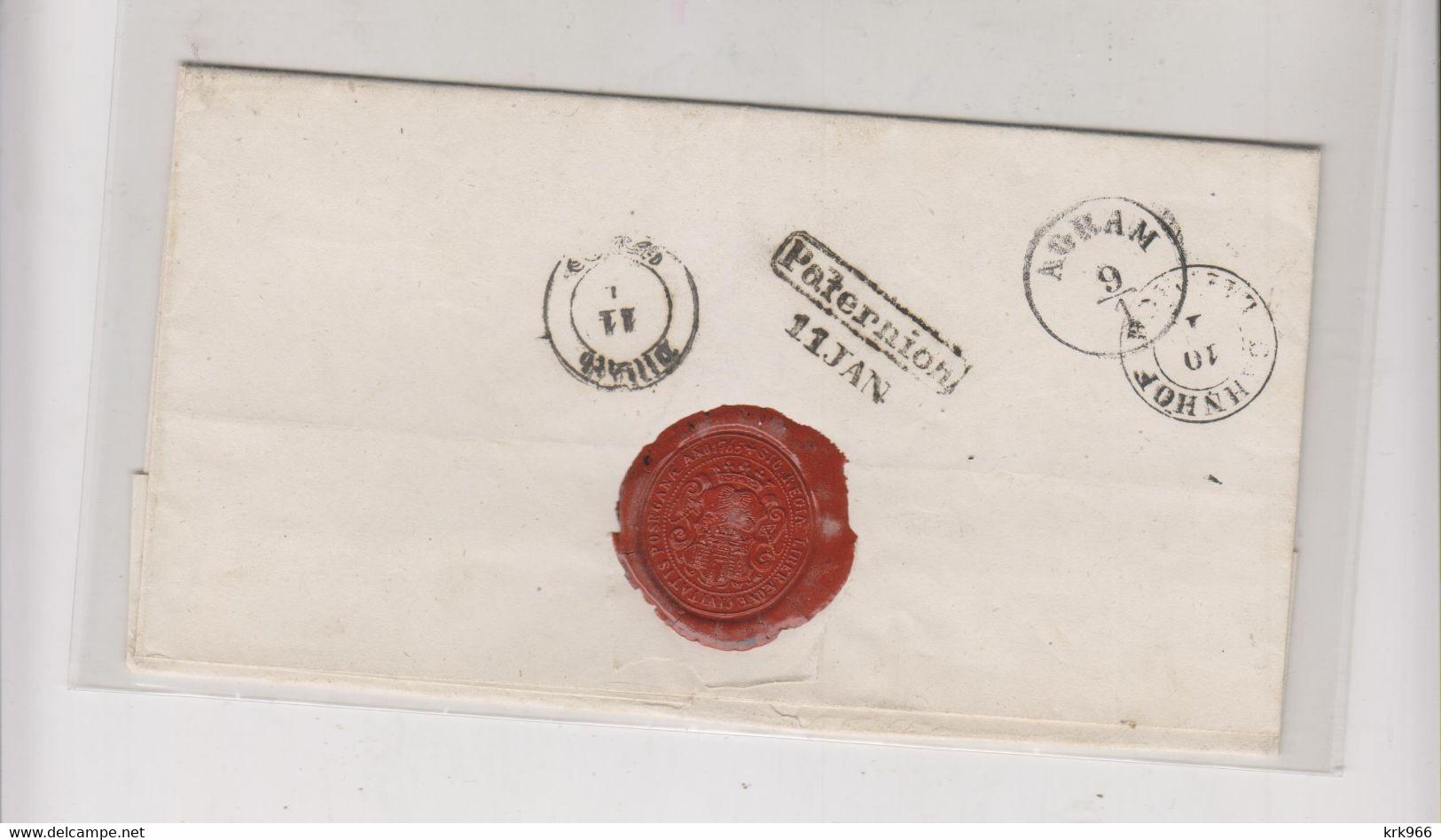 CROATIA AUSTRIA 1853 POZEG POZEGA  Nice Cover To Paternion - Kroatien