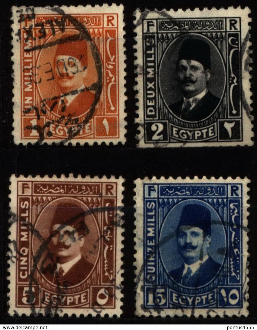 Egypt 1927 Mi 119_129 King Fuad I - Used Stamps