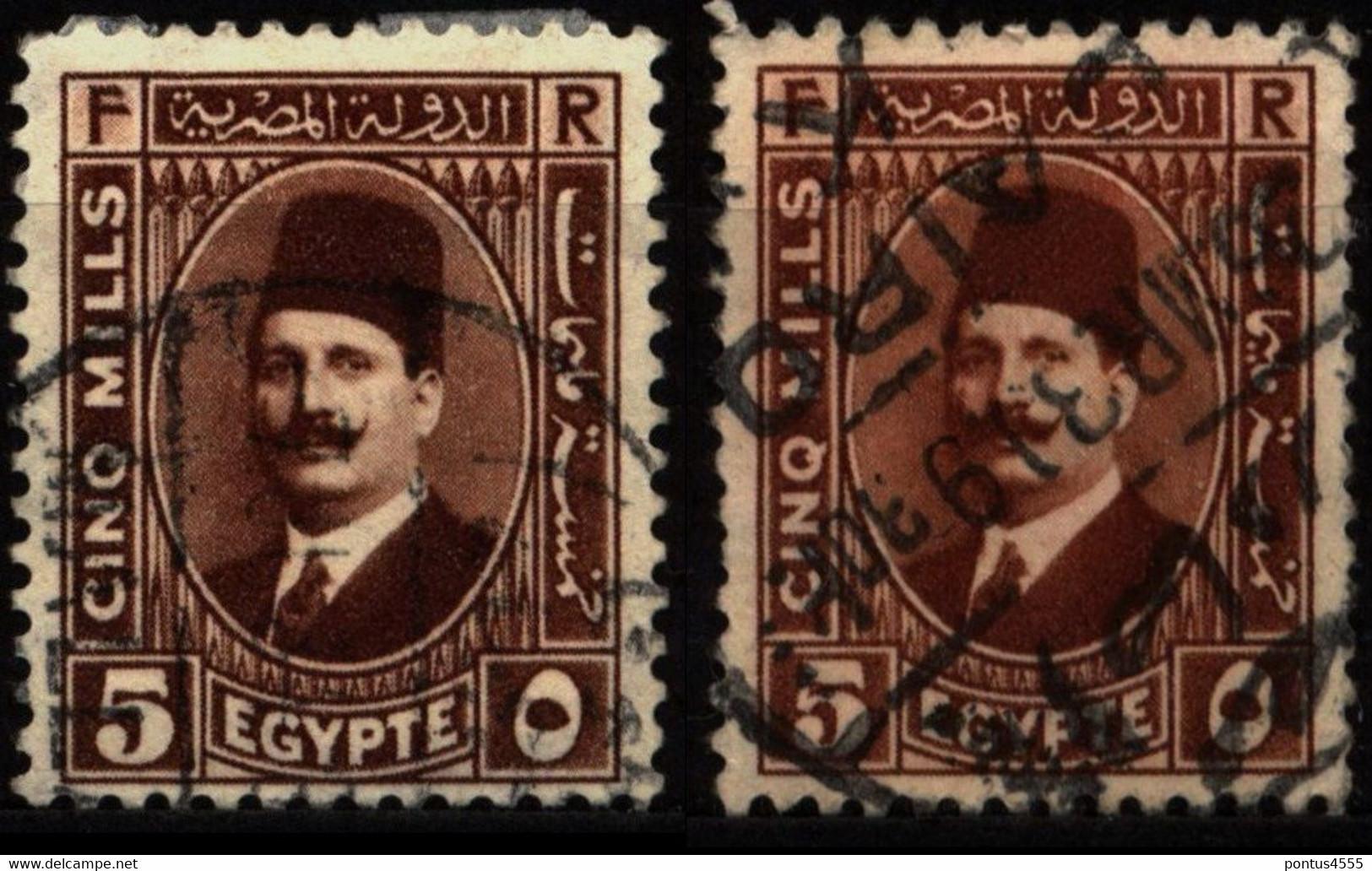 Egypt 1927 Mi 125a-125b King Fuad I - Used Stamps