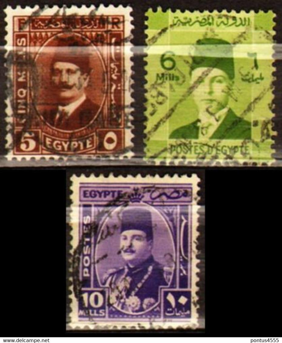 Egypt 1936-1944 King Fuad I, King Farouk - Used Stamps