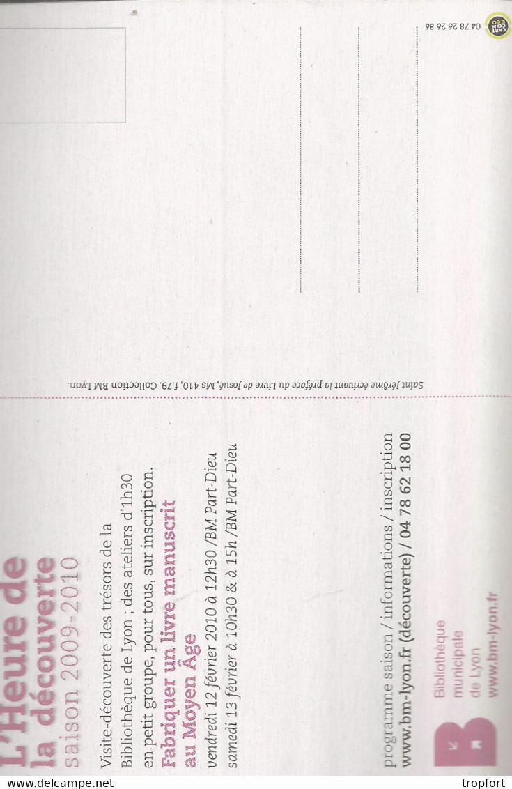 F93 / CARTE CPM Publicitaire PUB  Card Cart'com HEURE DECOUVERTE Fabriquer Un Livre Au Moyen Age Imprimerie - Other