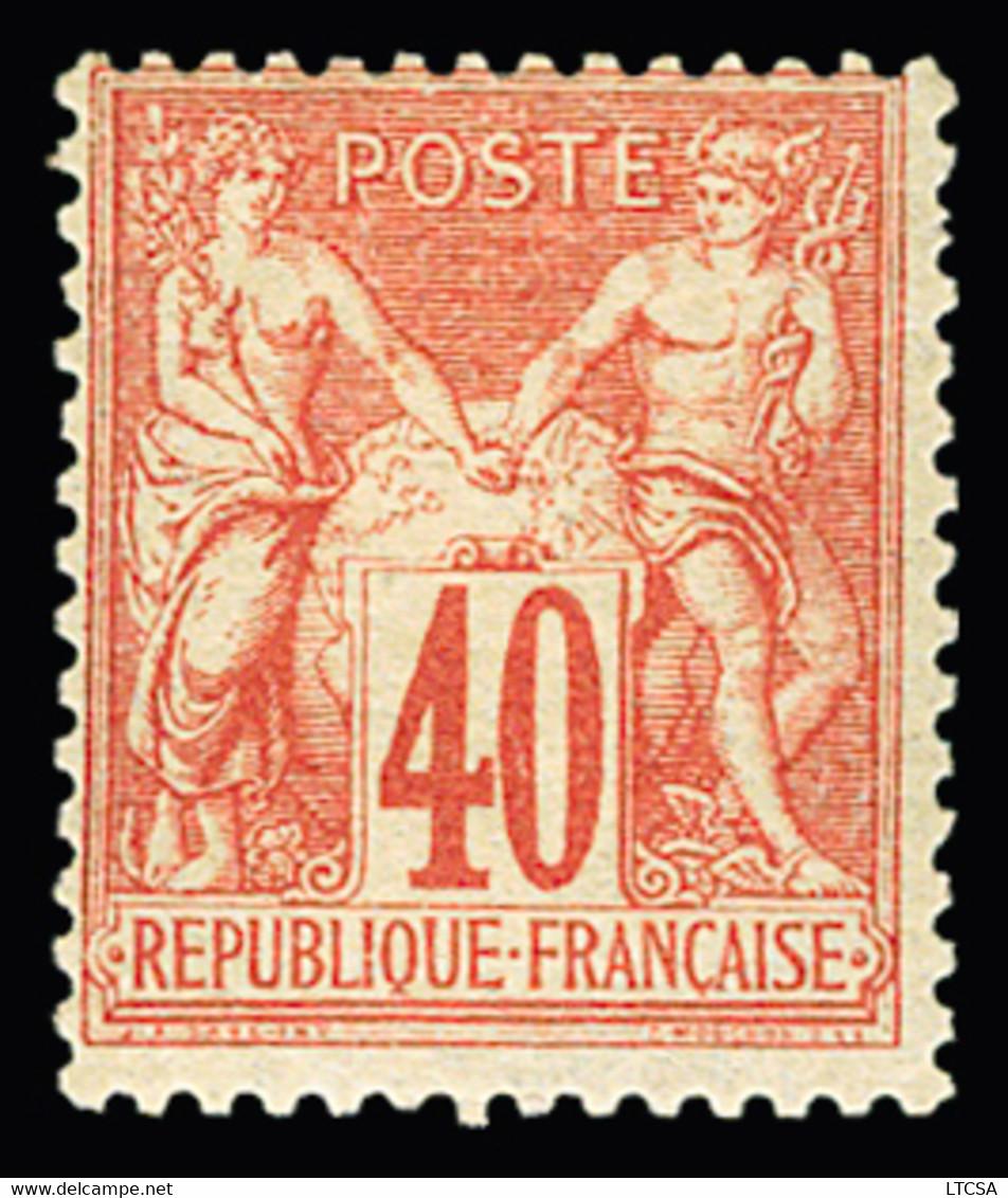 * N°70 40c Rouge-orange, Type I, Légère Trace De Charnière, TB. Signé Calves - 1876-1878 Sage (Type I)