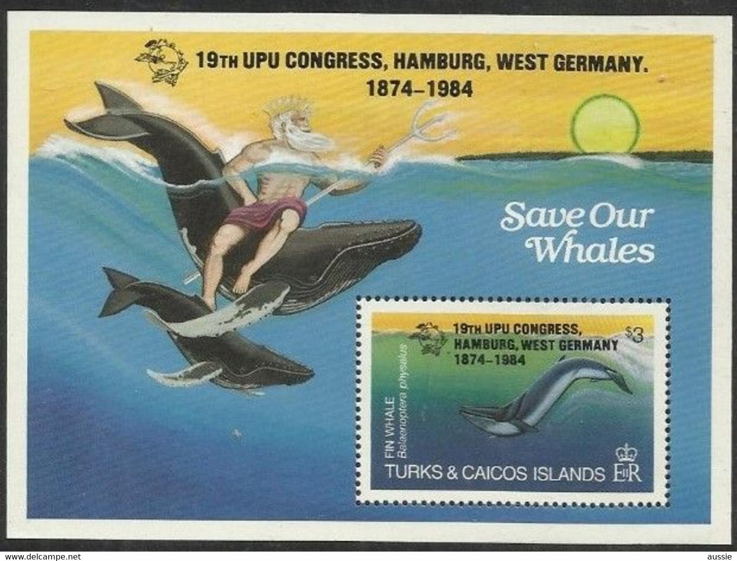 Turcs Caicos Turks Et Caiques 1984 Yvertn° Bloc 52 *** MNH Cote 11 € Faune Marine UPU Hamburg - Turks & Caicos
