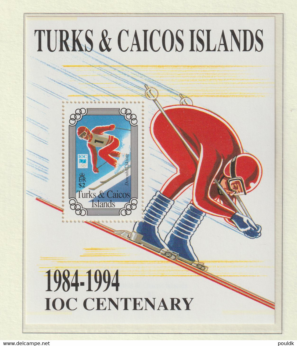 Turks & Caicos Islands 1994 IOC Centenary Souvenir Sheet MNH/** (H56) - Other