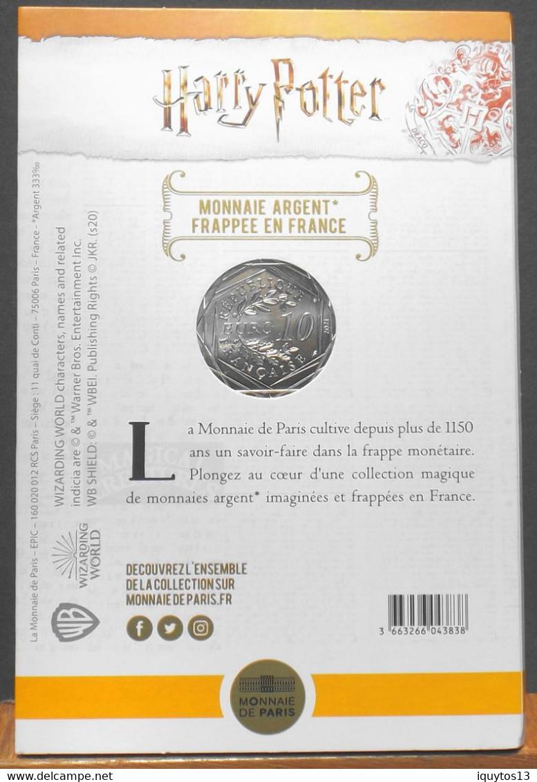 Fr. - HARRY POTTER - Pièce De 10 Euro Argent Colorisée N° 2/18 HARRY POTTER à L'ECOLE Des SORCIERS - Neuve Sous Blister - France