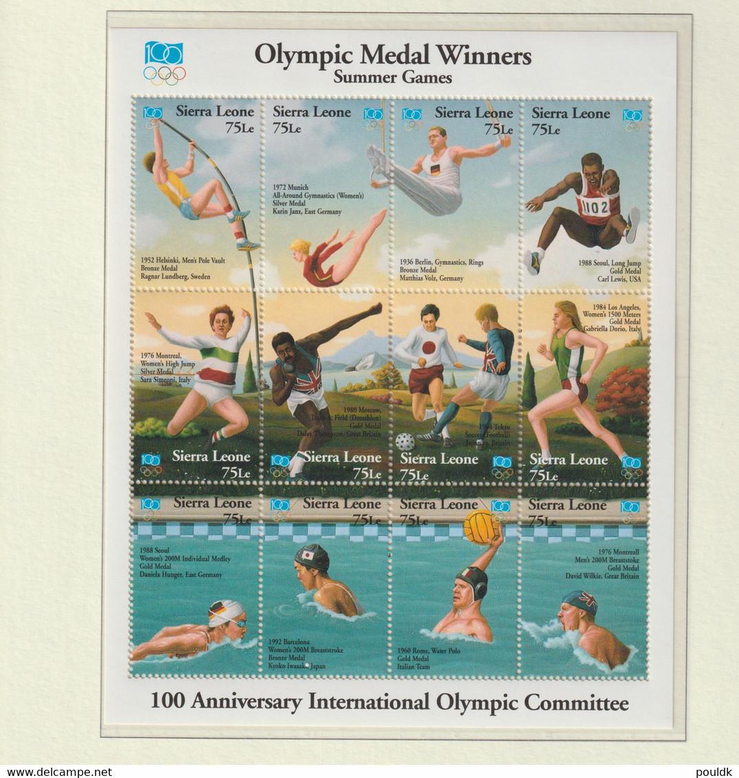Sierra Leone 1994 IOC Centenary Souvenir Sheet MNH/** (H56large) - Other