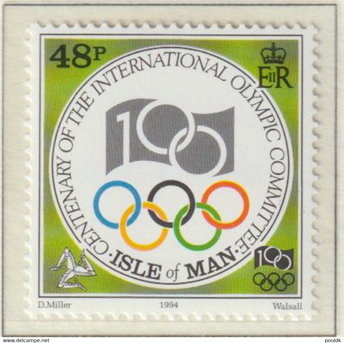 Isle Of Man 1994 IOC Centenary Five Stamps MNH/** (H56) - Other