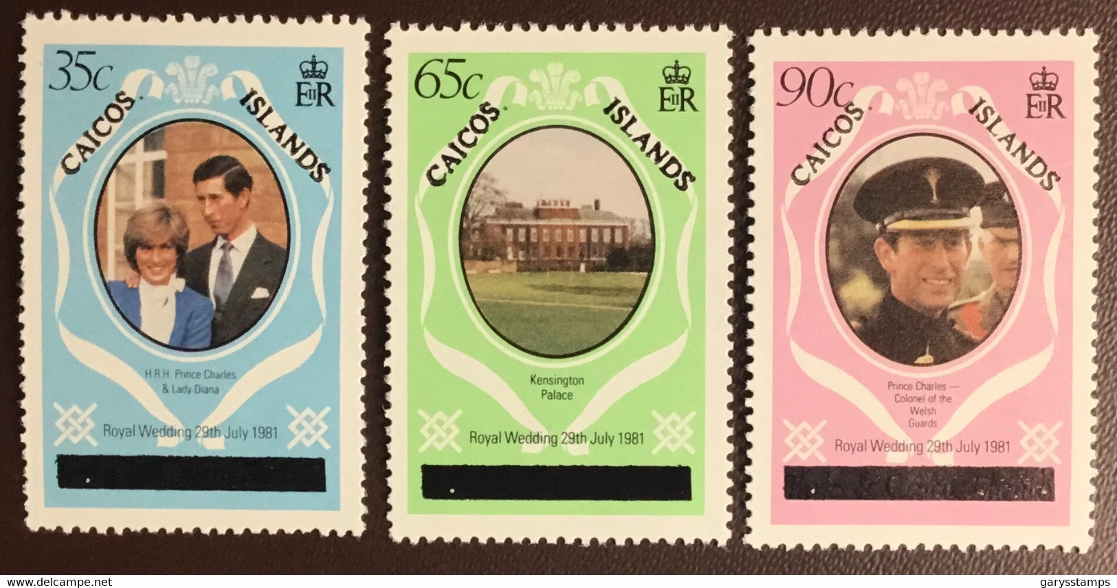 Caicos Islands 1981 Royal Wedding Upper Case MNH - Turks & Caicos (I. Turques Et Caïques)