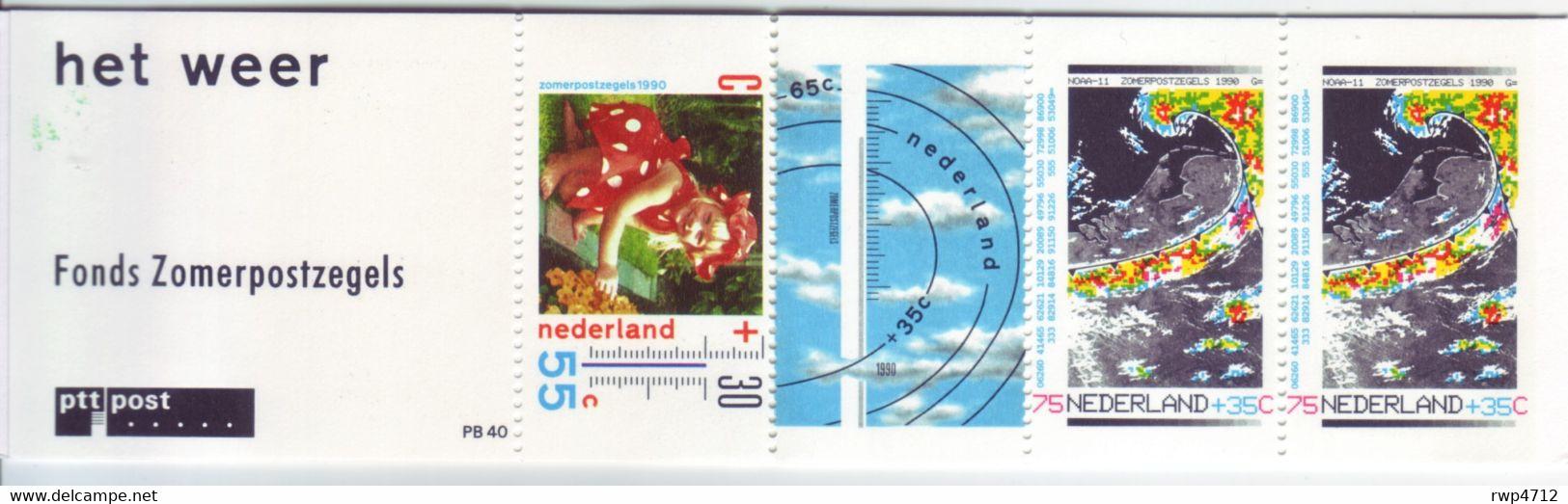 NIEDERLANDE     Mi. MH 41(PB 40)  Sommermarken Zomerpostzegels 1990 Postfrisch  Mint - Postzegelboekjes En Roltandingzegels