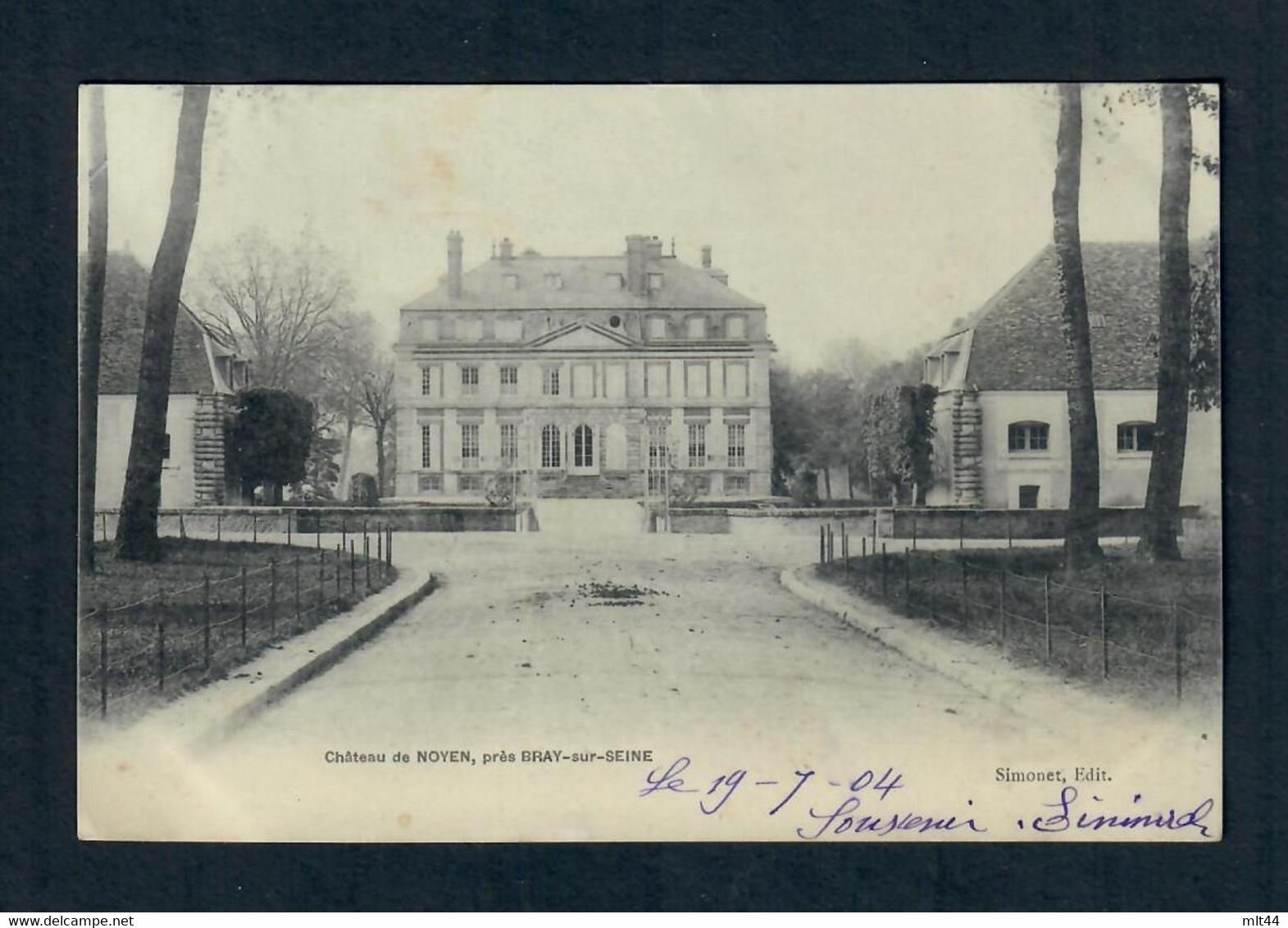 CPA 77 Noyen Sur Seine - Chateau De Noyen Près Bray Sur Seine --  (circulée En 1904) - Autres Communes