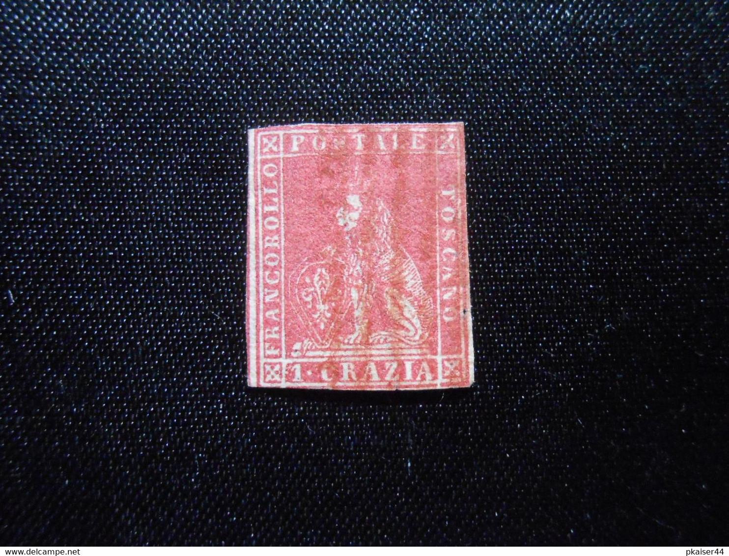 I Mi 12  1Cr - Italien - Toskana - 1857 - 350,00 € - Lot 561 - Toskana