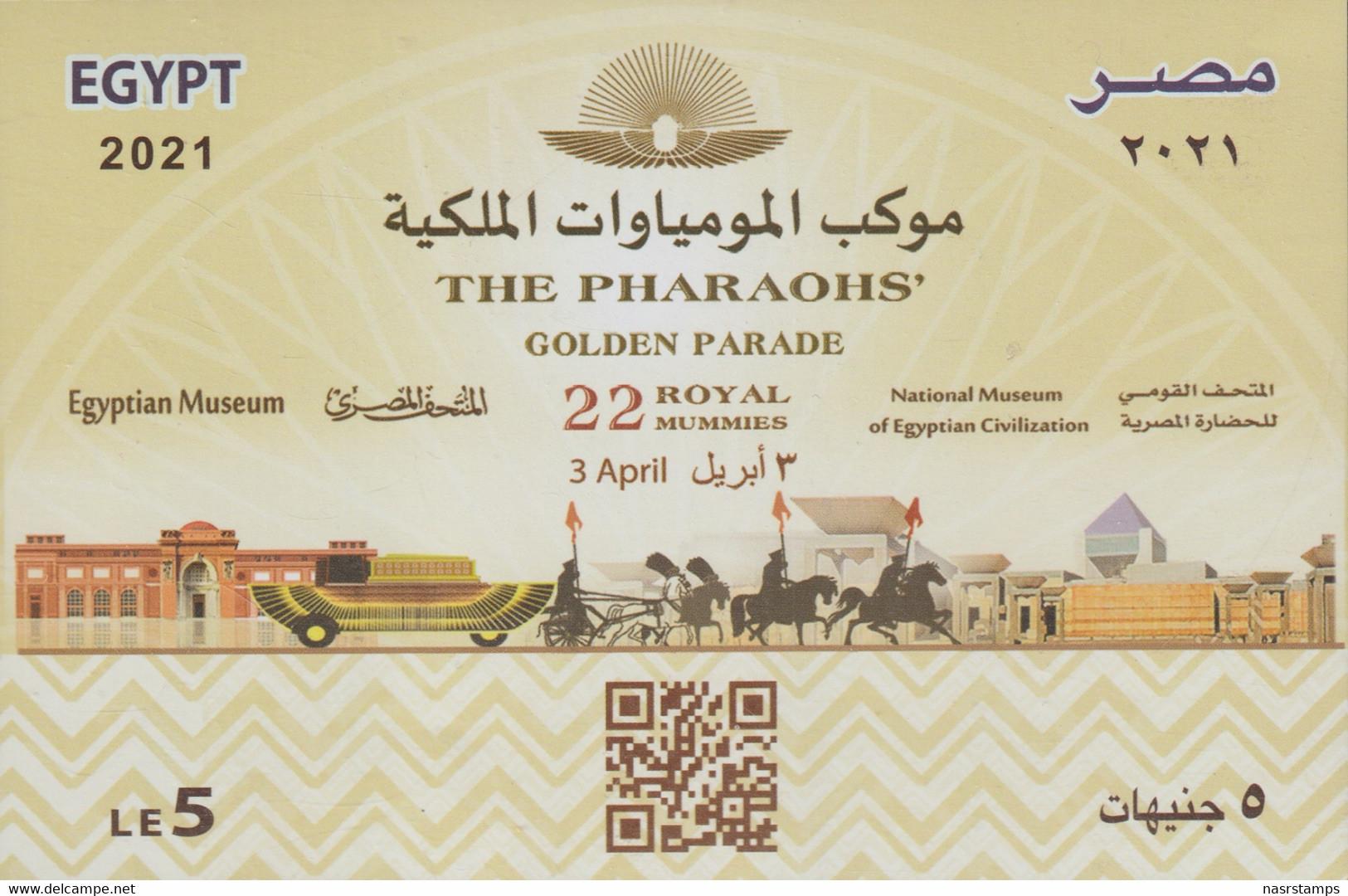 Egypt - 2021 - NEW - S/S - ( THE PHARAOHS Golden Parade - 3 April 2021 ) - MNH (**) - Nuovi