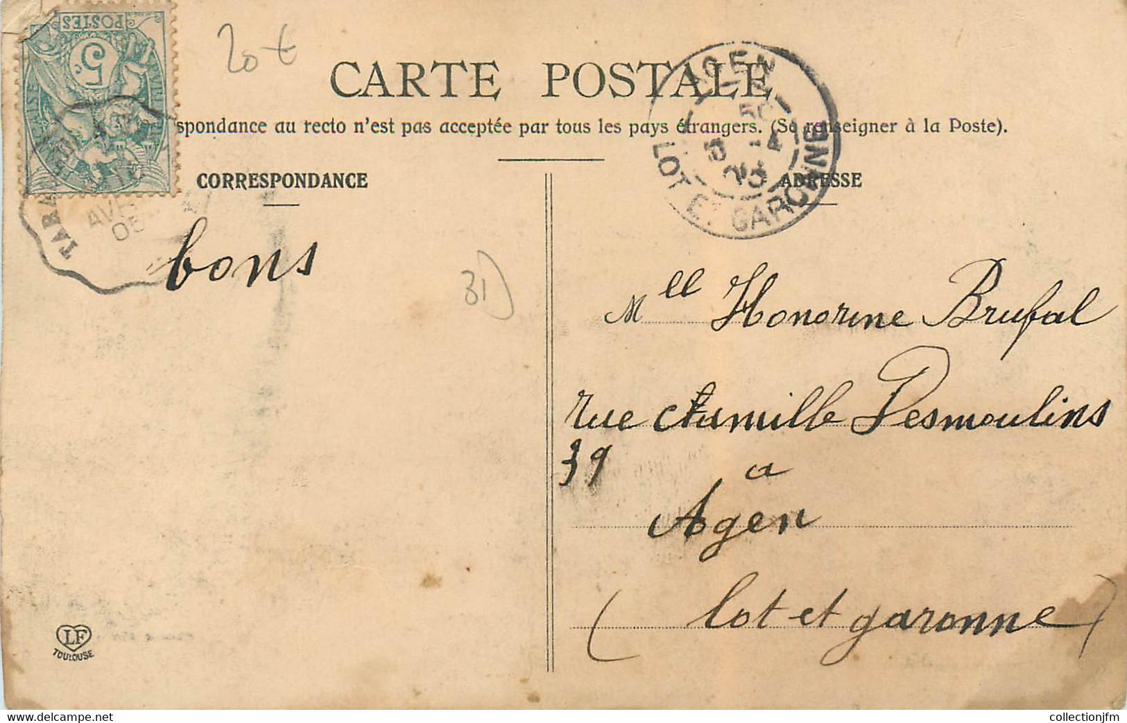 """CPA FRANCE 31 """"Longages, La Place De La Halle"""" - Other Municipalities"""